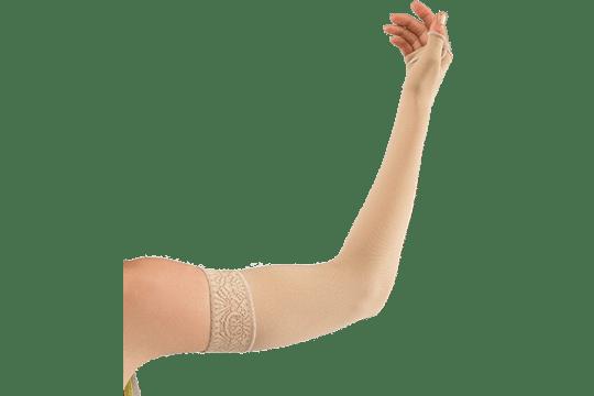 Manchons compressifs réalisés sur mesure, adaptés aux pathologies lymphatiques du membre supérieur