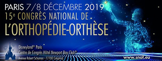 Comme tous les ans, retrouvez les acteurs majeurs de l'Orthopédie Orthèses, les 7 et 8 décembre 2019